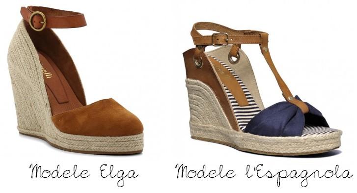 Chaussure compensée minelli