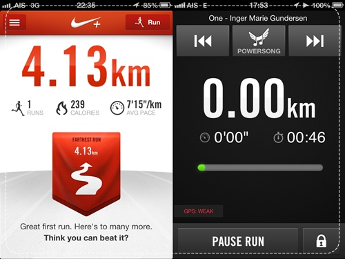 Iphone 5 nike running
