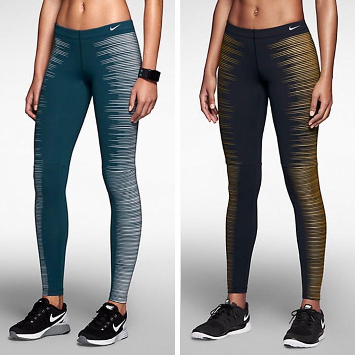 Nike running leggings glow