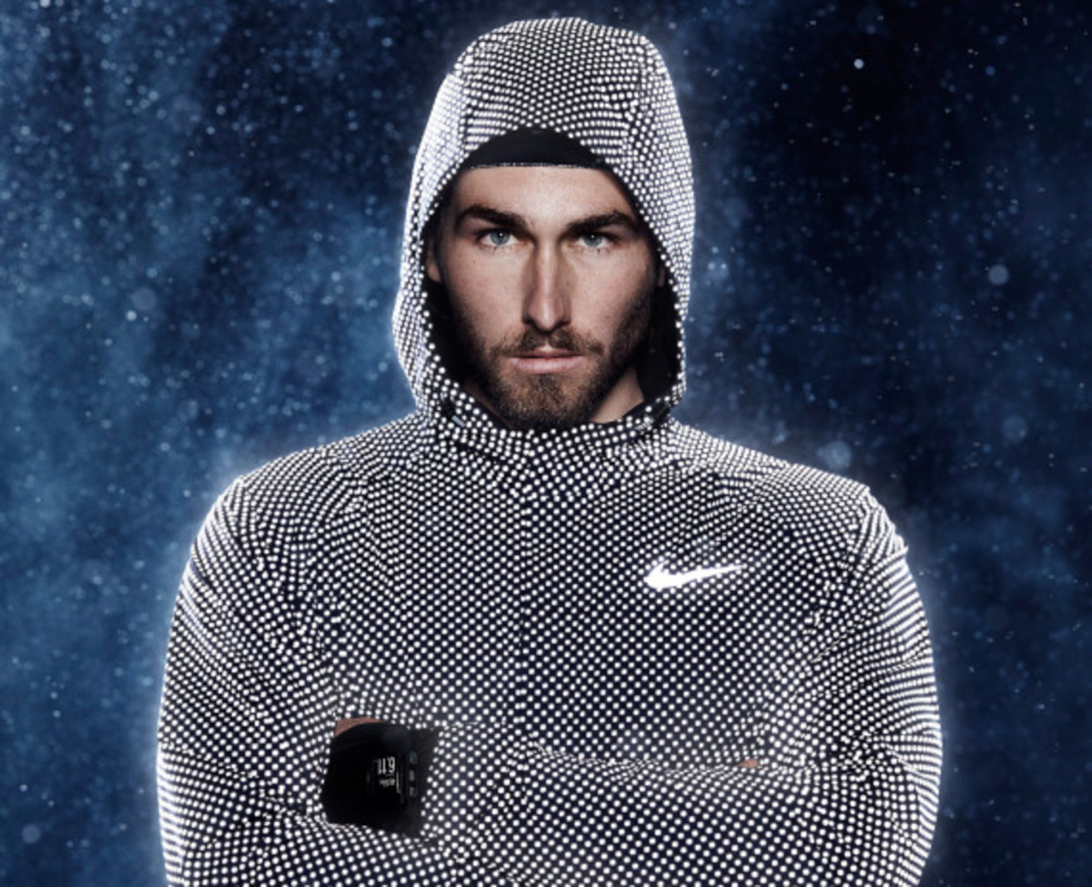 Nike running jacket reflective