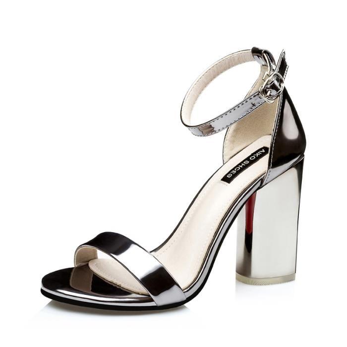 Sandale femme talon blanc