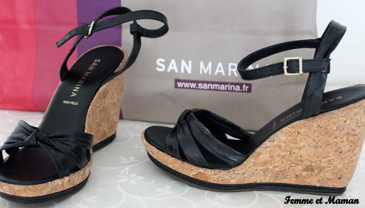 Chaussure compensée san marina