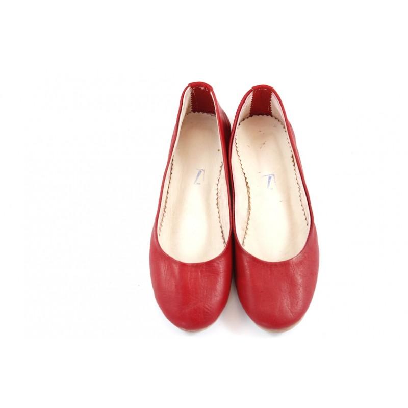 Ballerine rouge cuir