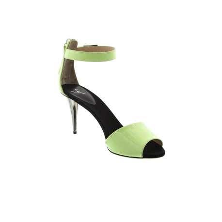 Sandale femme vert anis