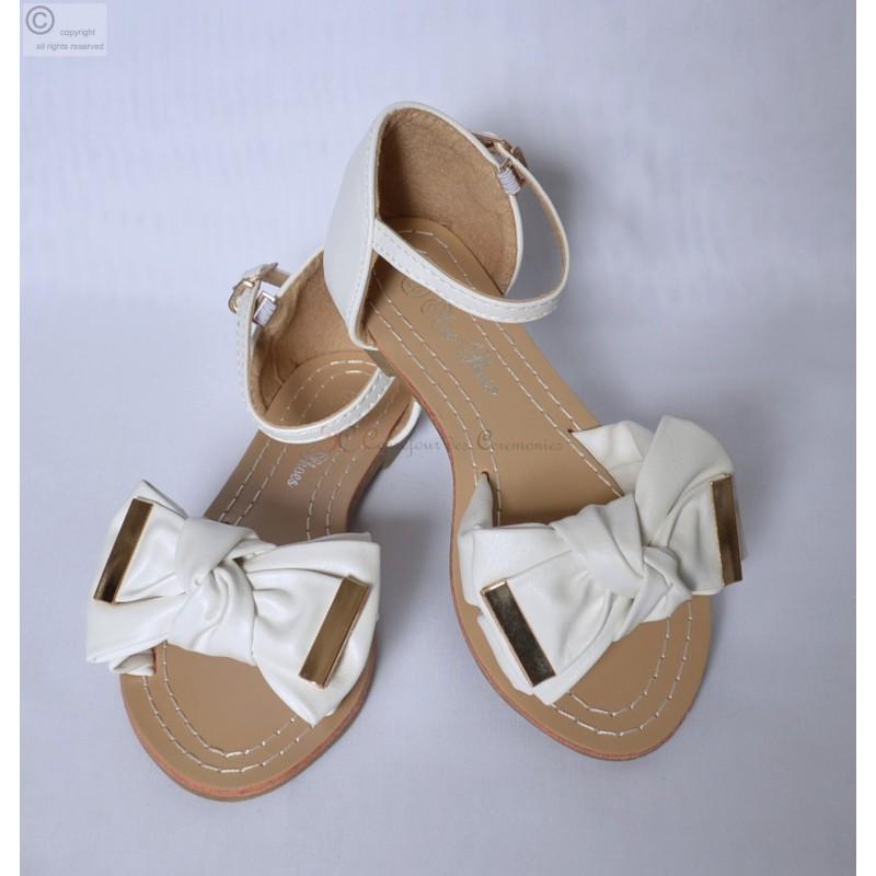 Sandale femme noeud