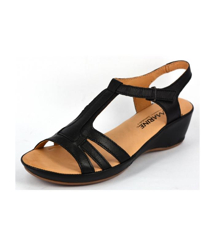 Sandale femme marine