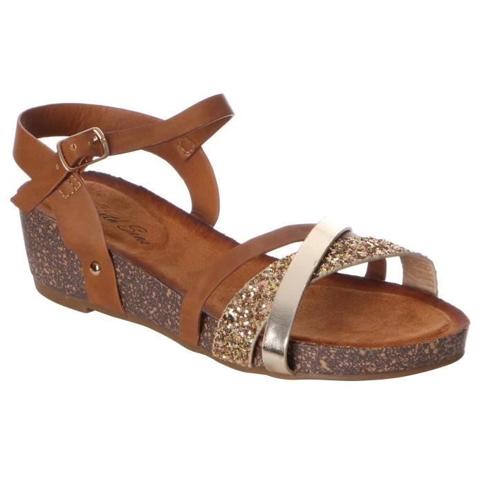 Sandale femme petit talon