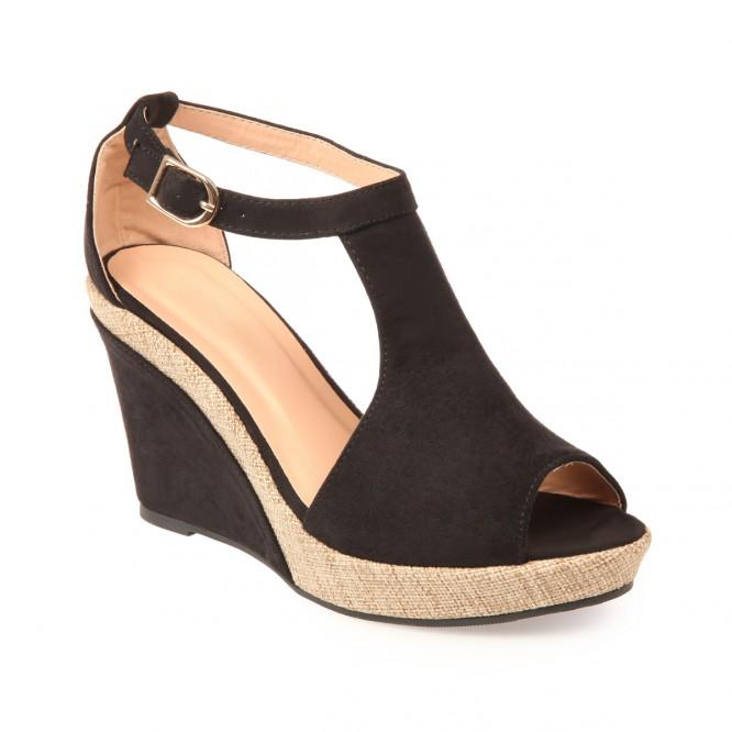 Chaussure compense femme pas cher