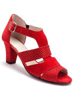 Sandale femme cuir rouge