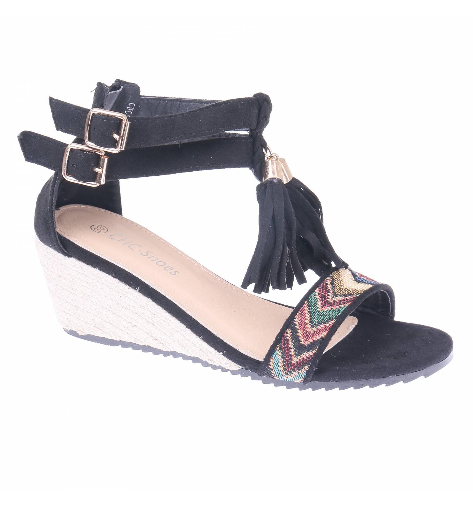 Sandale femme daim