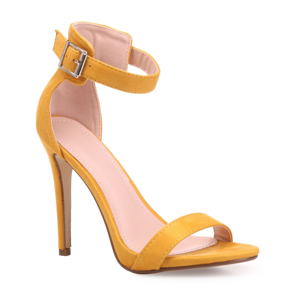 Sandale talon femme jaune
