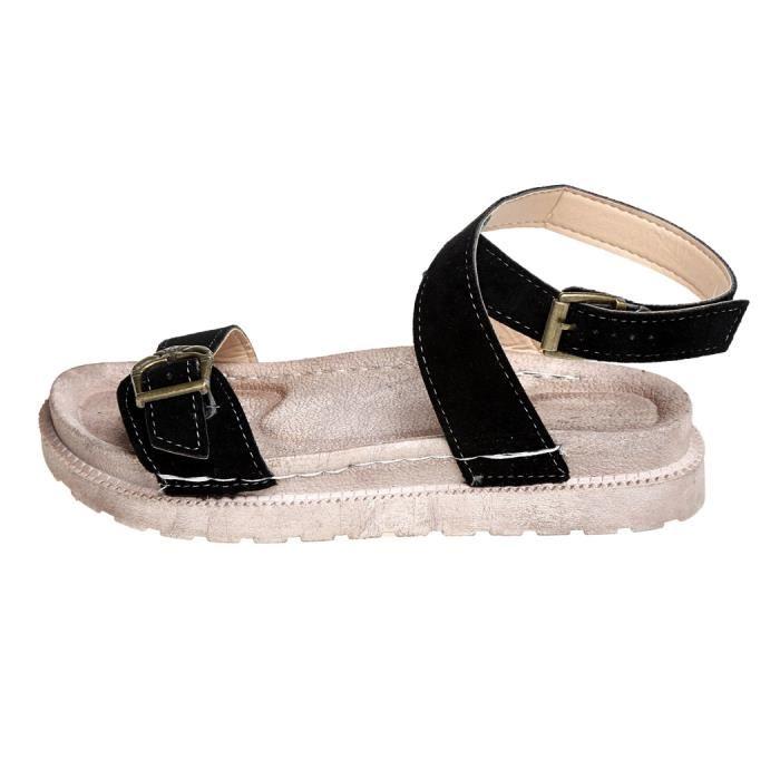 Sandale plate pour femme