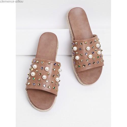 Sandale Perle Chaussure Femme Perle Lescahiersdalter Femme Sandale EDHW2I9Y