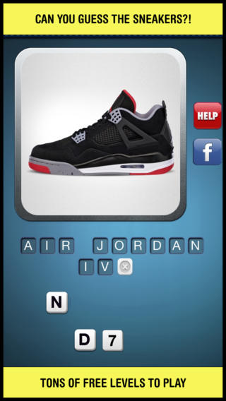 Sneaker quiz answers