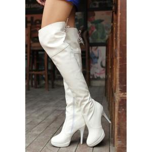 Bottes blanches femme
