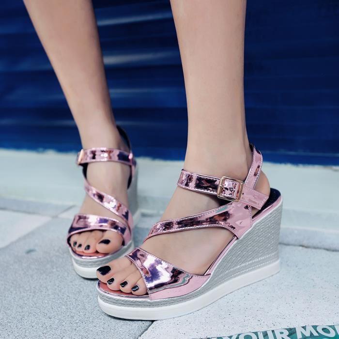 Sandale femme bout rond