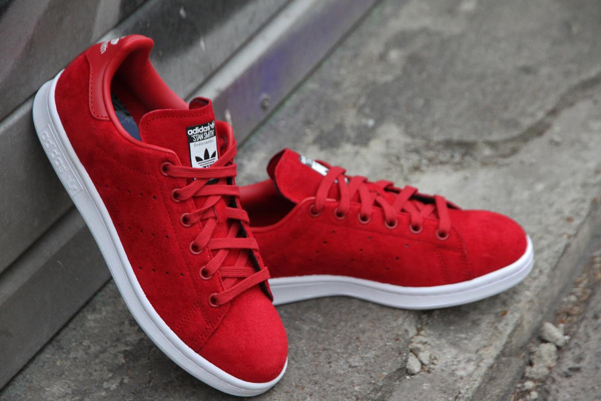 chaussures de séparation 0ac3c 616c7 Stan smith femme suede rouge - Chaussure - lescahiersdalter
