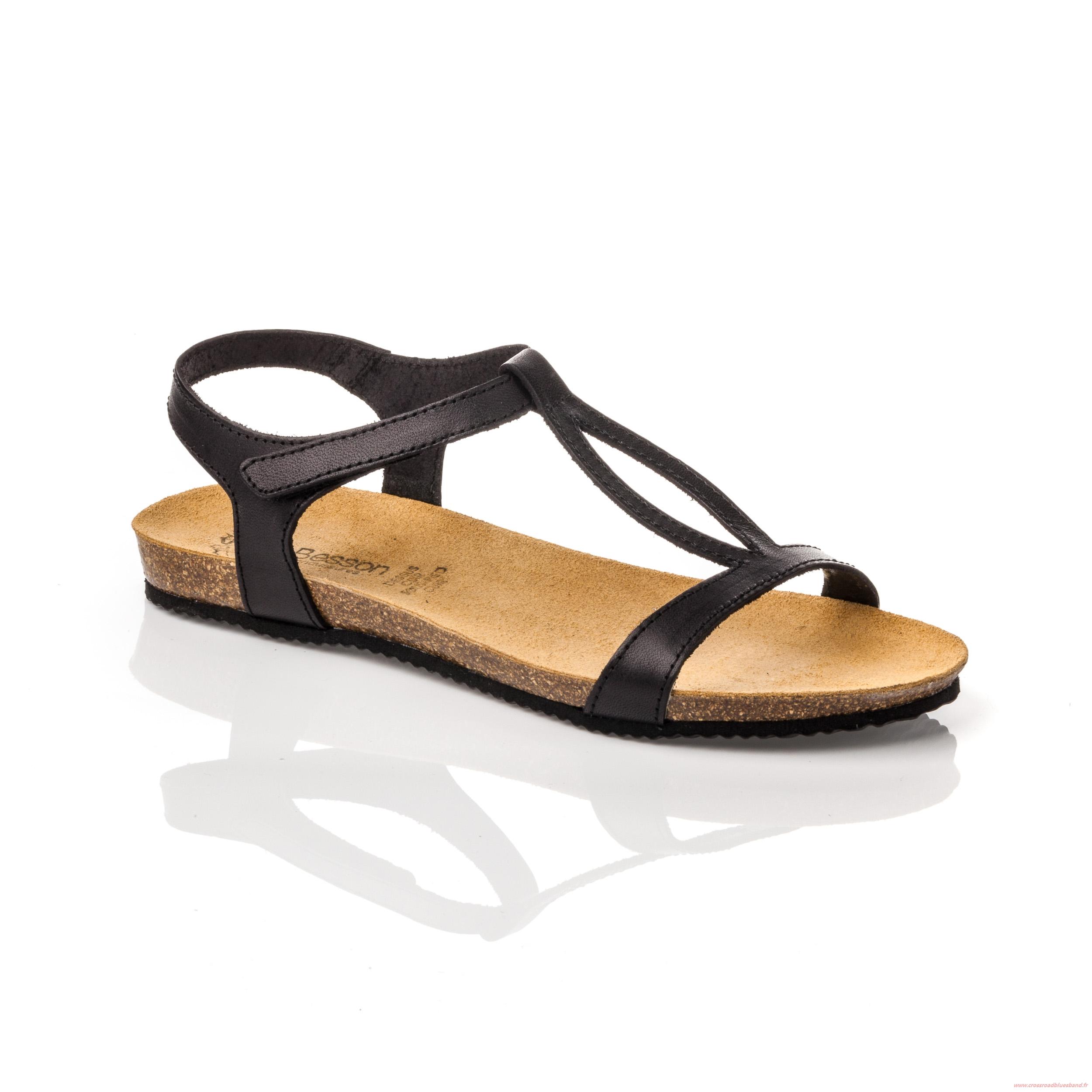 Sandale cuir femme besson