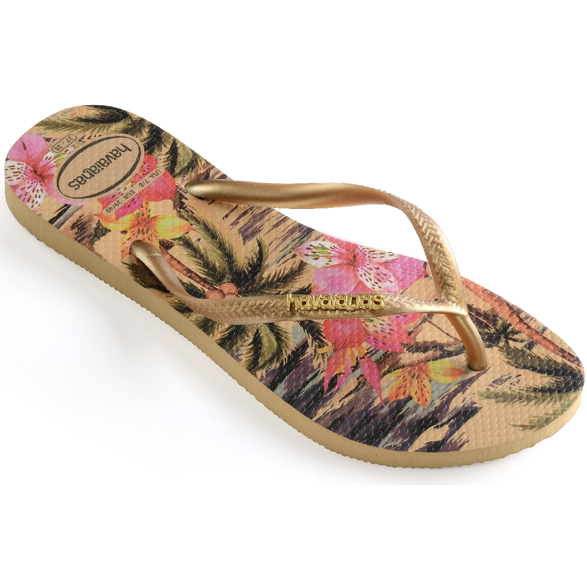 Tong havaianas femme or