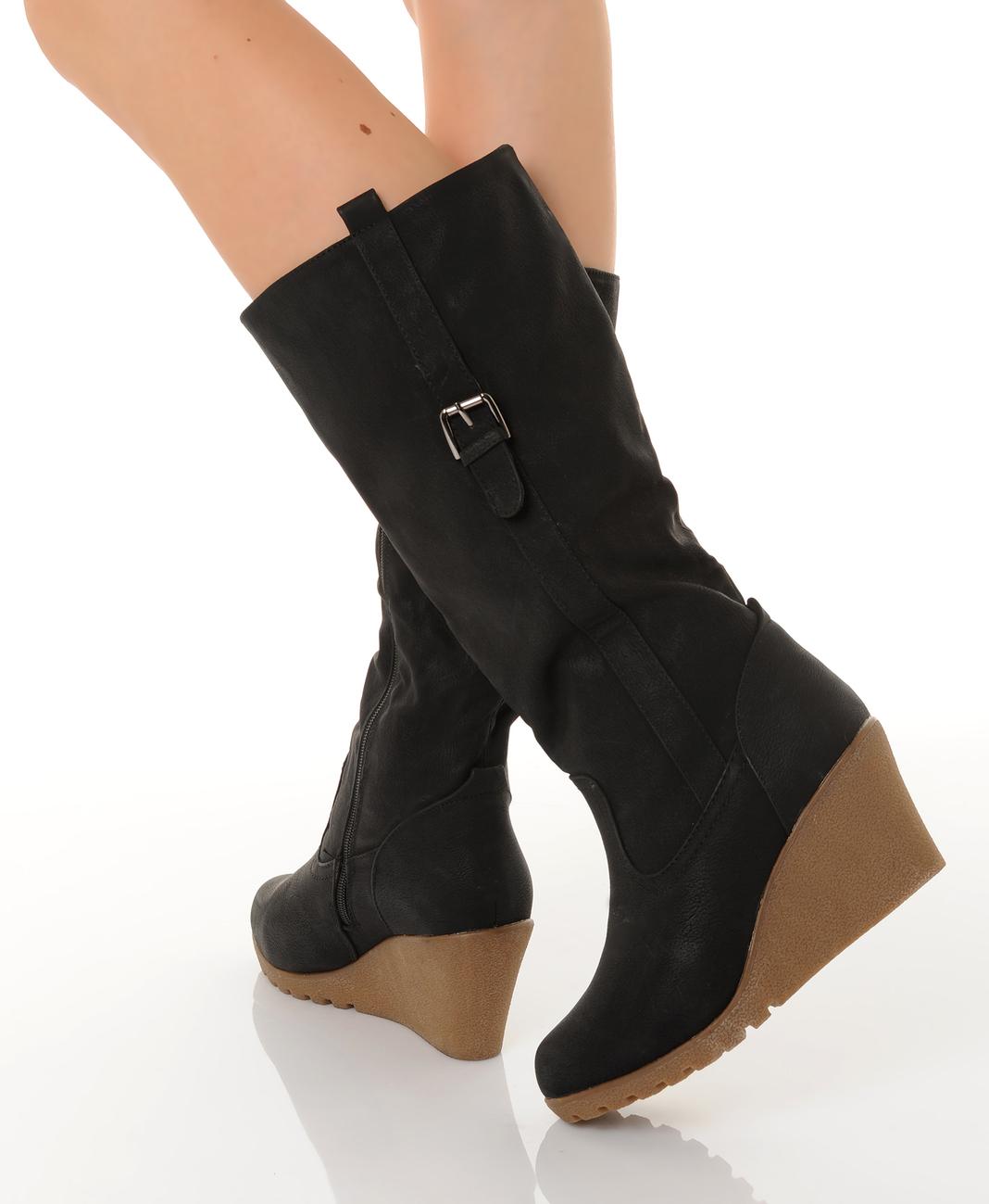 Chaussure compensée pour femme pas cher